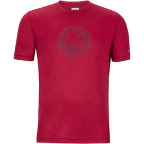 Marmot Transporter Bluzka z krótkim rękawem Mężczyźni czerwony